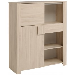 Parisot Warren Display Cabinet - Sesame Oak