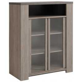 Parisot Gossip Display Cabinet - Clay Oak
