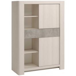 Parisot Chris Display Cabinet - Nordic Ash
