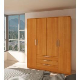 Trasman Grande 4 Door 3 Drawer Wardrobe - Cherry