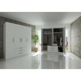 Trasman Grande 4 Door 3 Drawer Wardrobe - White