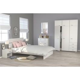 Parisot Galaxy White Bedroom Furniture Set