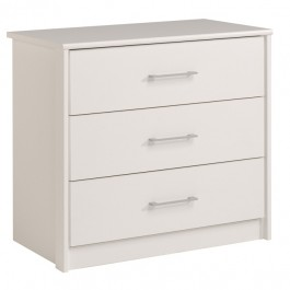 Parisot Swan White Chest of 3 Drawers