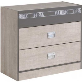 Parisot Fabric Chest of 3 Drawers
