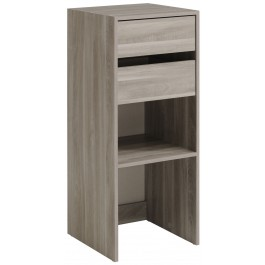 Parisot Easy Dress Narrow Shelf & Drawer Unit Flint Oak