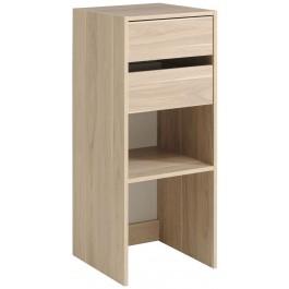 Parisot Easy Dress Narrow Shelf & Drawer Unit Dakota Oak