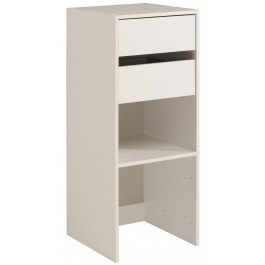 Parisot Easy Dress Narrow Shelf & Drawer Unit White