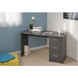 Parisot Computer Desk With 3 Drawers GREY