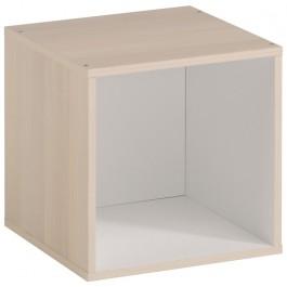 Parisot Kubikub 1 Cube Box - Acacia & White