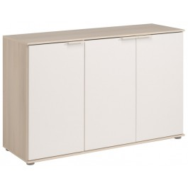 Parisot Kingdom 3 Door Sideboard - Acacia & White