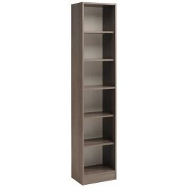 Parisot Sophia Tall Narrow Bookcase - Silver Walnut