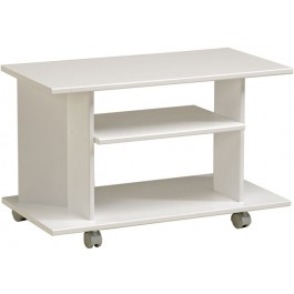 Parisot Peps TV Stand with 2 shelves in high gloss megeve white