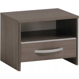 Parisot Evo 2 bedside table in walnut finish