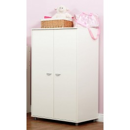 Kids 2 Door Wardrobe - White