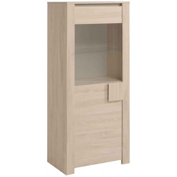 Parisot Warren Small Display Cabinet - Sesame Oak