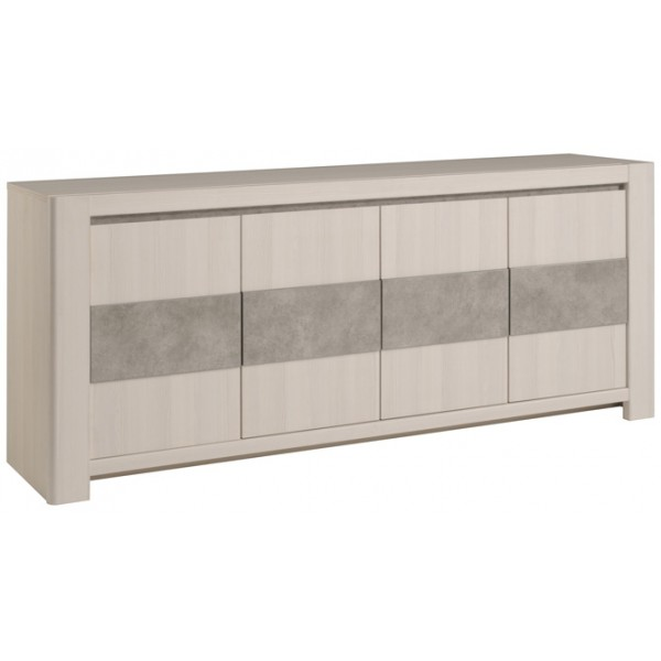 Parisot Chris 4 Door Sideboard - Nordic Ash