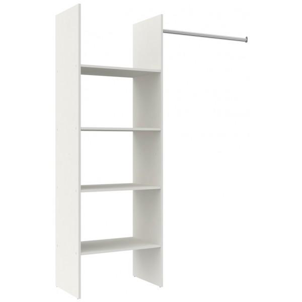Parisot Primo Medium Open Wardrobe - White