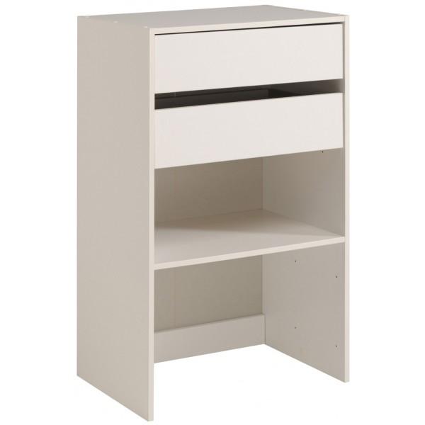 Parisot Easy Dress Wide Shelf & Drawer Unit White