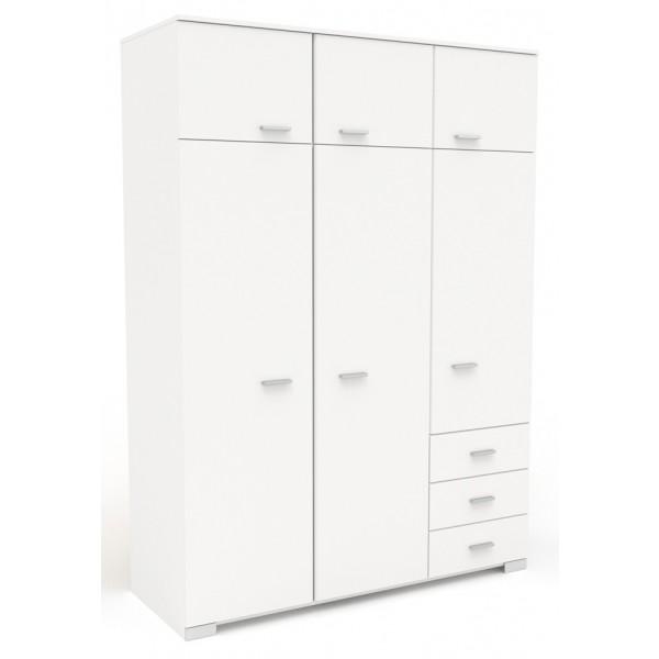 Parisot Galaxy Large 3 Door Wardrobe - White