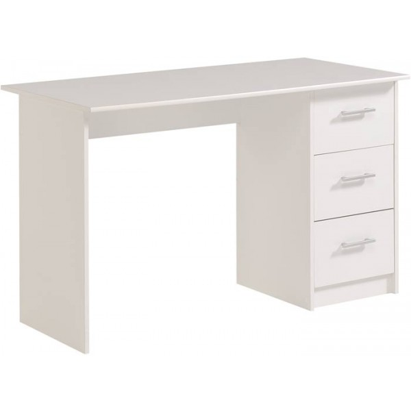 Parisot Infinity white computer desk with 3 drawers