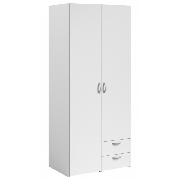 Parisot Daily 2 Door 2 Drawer Wardrobe - White