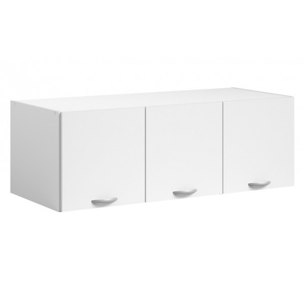 Parisot Daily 3 Door Wardrobe Topper - White