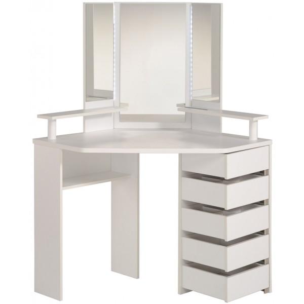 parisot corner beauty bar white. Black Bedroom Furniture Sets. Home Design Ideas