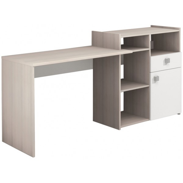 Parisot Iron Desk - Acacia & White