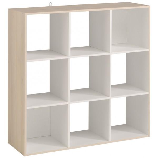 Parisot Kubikub 9 Cube Unit - Acacia & White