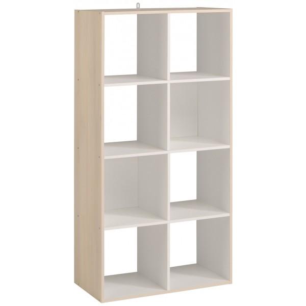 Parisot Kubikub 8 Cube Unit - Acacia & White