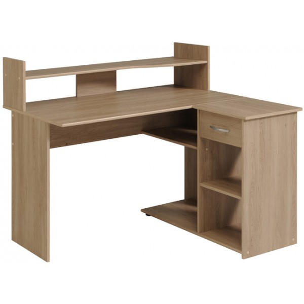 Parisot Moving 2 Corner Desk - Brooklyn Oak